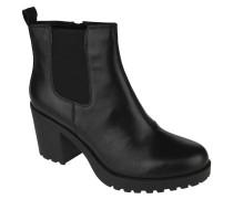 Chelsea Boots, Leder, Blockabsatz, Marken-Prägung