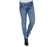Jeans, Slim Fit, Stretch, Waschungen, Gürtelschlaufen
