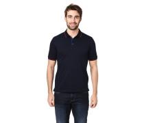 Poloshirt, Piqué, Kontrast-Streifen, halbe Knopfleiste