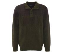 Pullover, Woll-Anteil, Klappkragen, Rauten