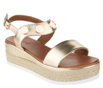 Sandaletten, Statement-Sohle, Nieten, Metallic-Look