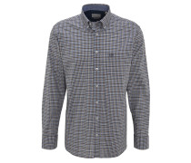 Freizeithemd, Regular Fit, Karo, Button-Down-Kragen