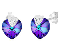 Ohrringe Herz Liebe Swarovski® Kristalle 925 Silber