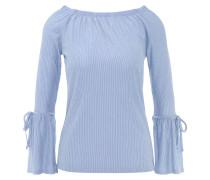 Langarmshirt, Volant-Ärmel, Binde-Details, elastischer Ausschnitt