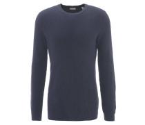 Pullover, reine Baumwolle, Strick-Optik, Emblem