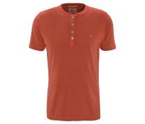 T-Shirt, Baumwolle, Henley-Ausschnitt