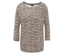 Pullover, Allover Animal-Print, 3/4-Arm