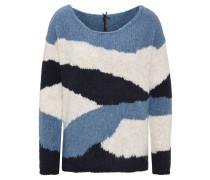 Pullover, Strick, asymmetrisches Muster, Rundhalsausschnitt