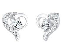Ohrringe Herz Liebe Swarovski® Kristalle 925  Darling