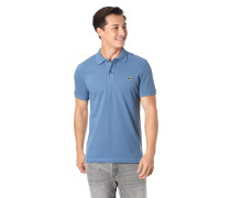 Poloshirt, Slim Fit, Pique, Logo-Stickerei, reine Baumwolle