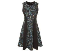Kleid, ärmellos, florales Design, Reißverschluss