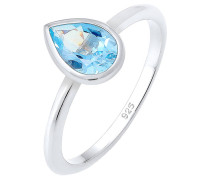 Ring Tropfen Swarovski® Topas Edelstein 925er