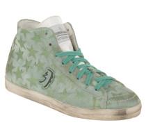 Sneaker, hoher Schaft, Leder, Glitzer-Sterne, Used-Look