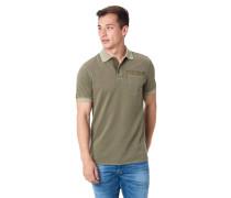 Poloshirt, Kurzarm, Brusttasche, Logo-Print