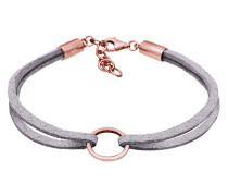Armband Kreis Geo Velour Optik Trend 925 Sterling Silber