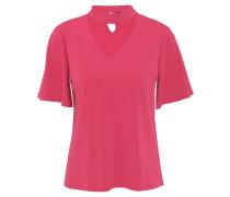T-Shirt, V-Ausschnitt, Blende, Schlüsselloch-Ausschnitt hinten
