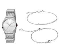 """Set Damenuhr und 2 Armbänder """"Blithe"""" ES1L092M0045"""