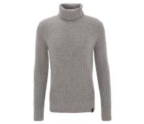 Pullover, Strick, Rollkragen, unifarben