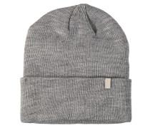 Mütze, breiter Umschlag, Strick, Logo-Patch