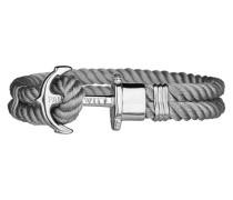 Ankerarmband PHREP IP Silber Nylon  19 cm