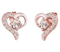 Ohrringe Herz Liebe Swarovski® Kristalle 925 Silber Darling
