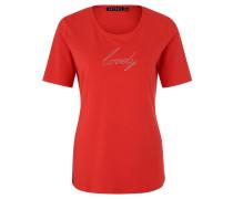 T-Shirt, Baumwoll-Anteil, Strass, Rundhalsausschnitt