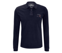 Polo-Shirt, Langarm, Logo-Stickerei