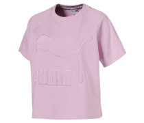 """T-Shirt """"Downtown Structured Top"""", Logo, Loose Fit"""