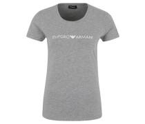 Schlafshirt, Jersey, Rundhalsausschnitt, Logo-Print