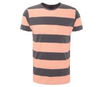 T-Shirt, Streifen, Rundhalsausschnitt, Brusttasche