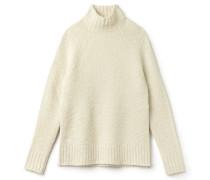 Damen-Pullover aus Alpaka und Woll-Schlingenpol mit Stehkragen