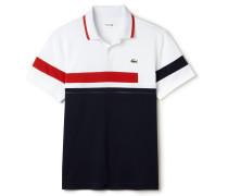 Herren-Tennis-Polo aus Ultra-Dry-Gewebe im Colorblock-Design LACOSTESPORT