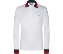 Langarm-Polo Custom Slim Fit