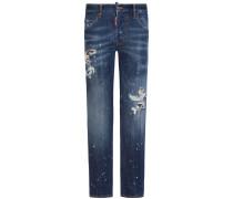 Skater Jeans Mid Rise Slim