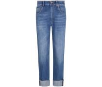 Straight Leg 7/8-Jeans Mid Rise