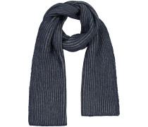 Ribbed Light Plated Cashmere-Schal