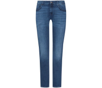 The Relaxed Skinny Jeans Mid Rise Girlfriend Fit Slim Illusion