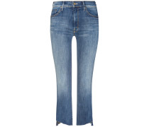 Insider Crop Step Fray 7/8-Jeans High Rise