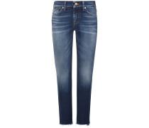Roxanne Jeans Mid Rise Crop Slim Illusion