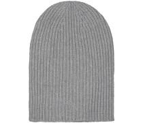 Ribbed Cashmere-Mütze