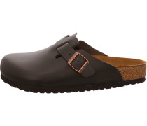 Clogs Boston Leder Dark Brown