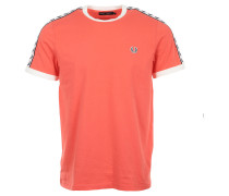 "T-Shirt Taped Ringer T-Shirt """"Coral Pink"""""