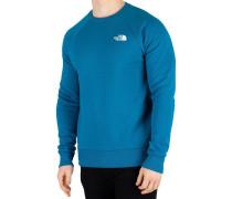 Pullover Herren Raglan Redbox Sweatshirt, Blau
