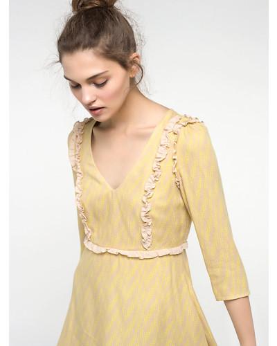 Kleid aus Viskose-Sablé