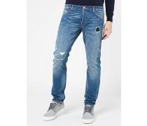 Jeans aus Segeltuch-Denim mit Komfortfaktor