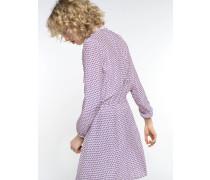 Chemsier-Kleid aus Viskose und Seide