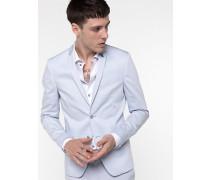 Klassische Jacke aus Baumwollstretch-Satin