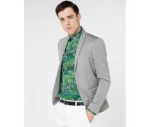Jacke aus garngefärbter Baumwolle mit Stretch