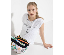 T-Shirt mit Patrizia Pepe und Fly Logo