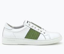 Niedrige Leder-Sneakers